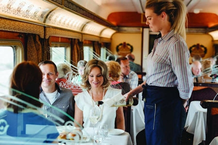Features 3 days of magnificent, first-class train travel aboard