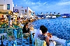 Mykonos waterfront restaurants and bars